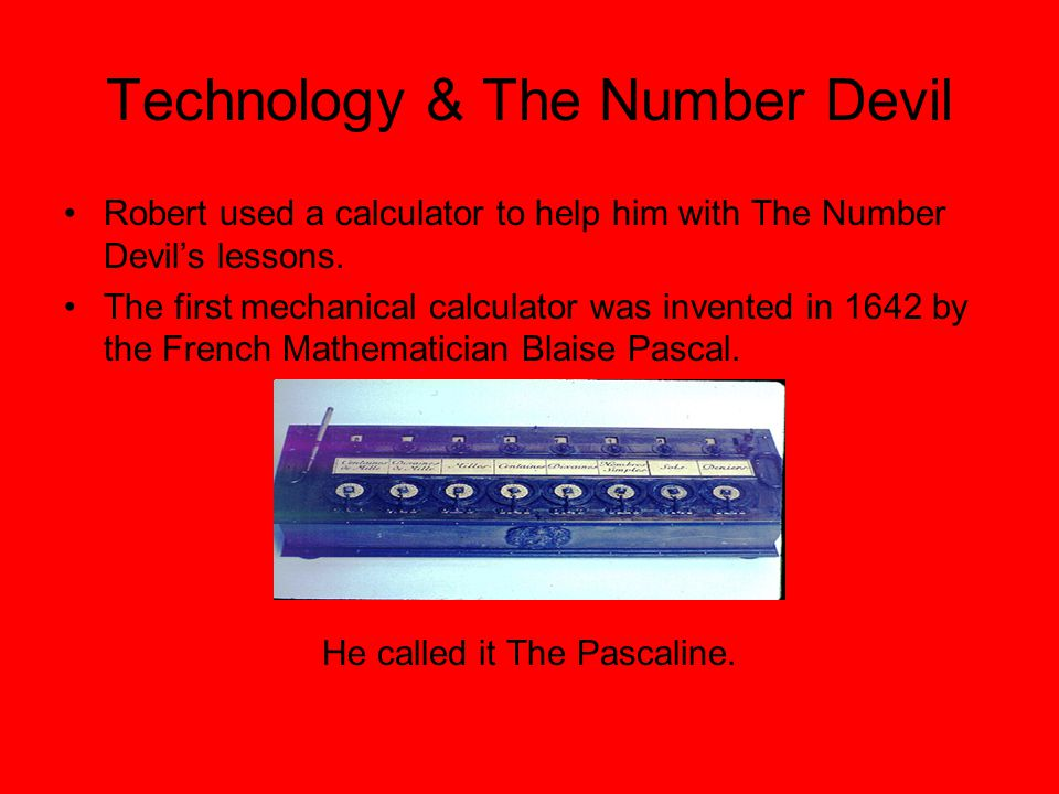 Technology & The Number Devil