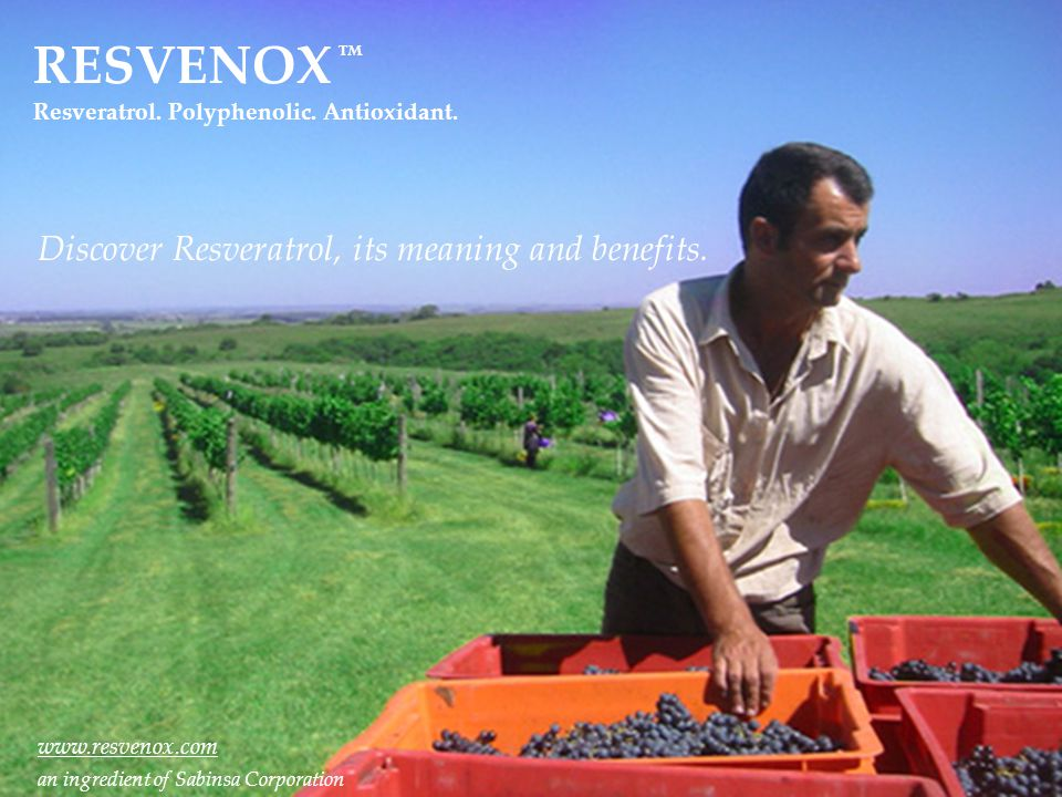 RESVENOX Discover Resveratrol, its meaning and benefits.