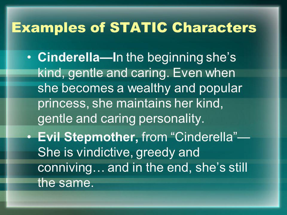 Examples of STATIC Characters