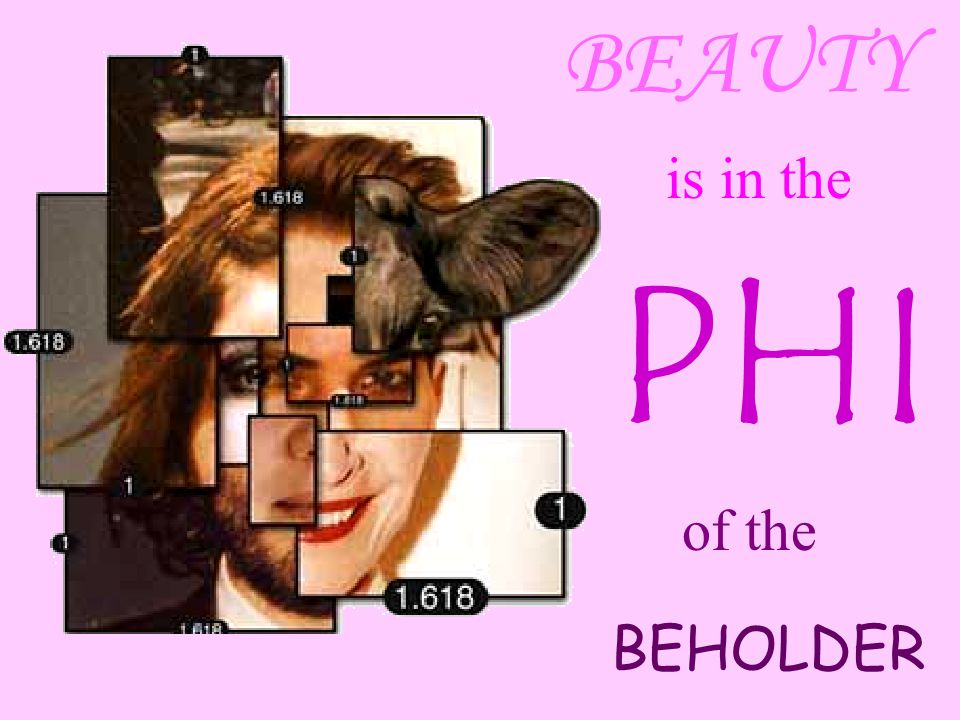 BEAUTY is in the PHI of the BEHOLDER