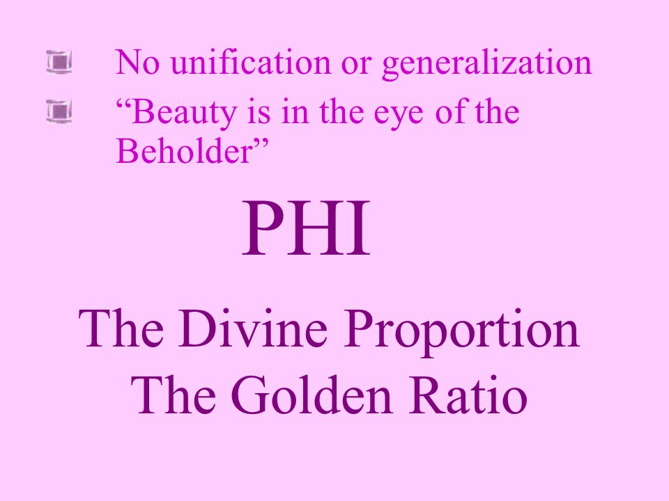 The Divine Proportion The Golden Ratio
