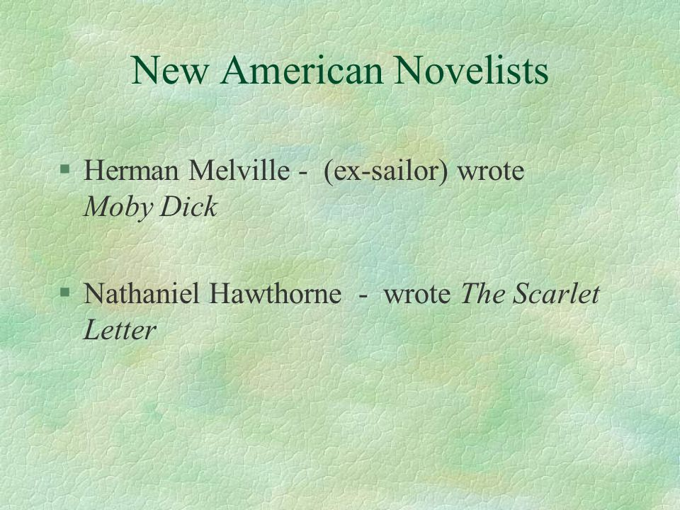 New American Novelists