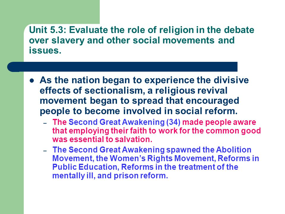 the role of religion in the