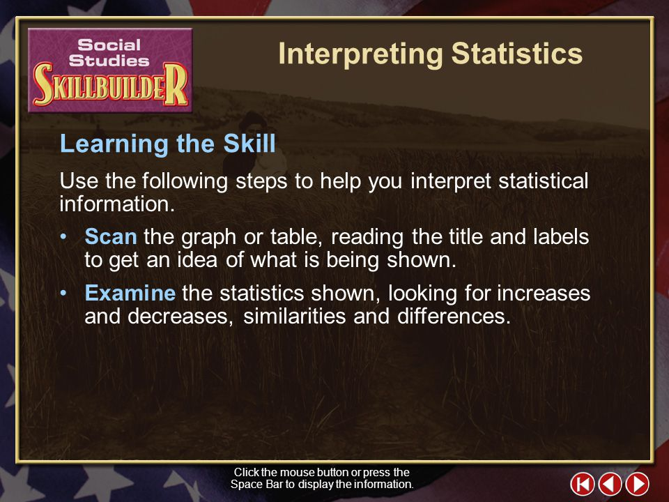 Interpreting Statistics
