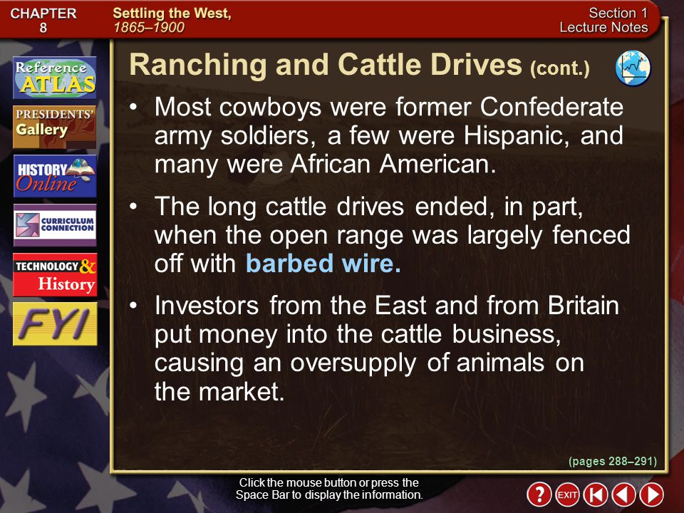 Ranching and Cattle Drives (cont.)