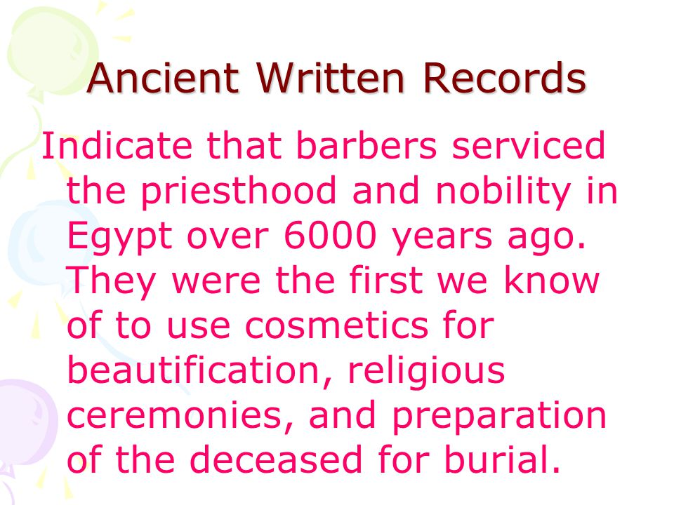 Ancient Written Records
