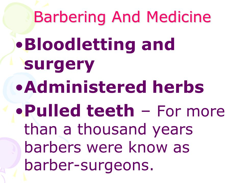 Barbering And Medicine