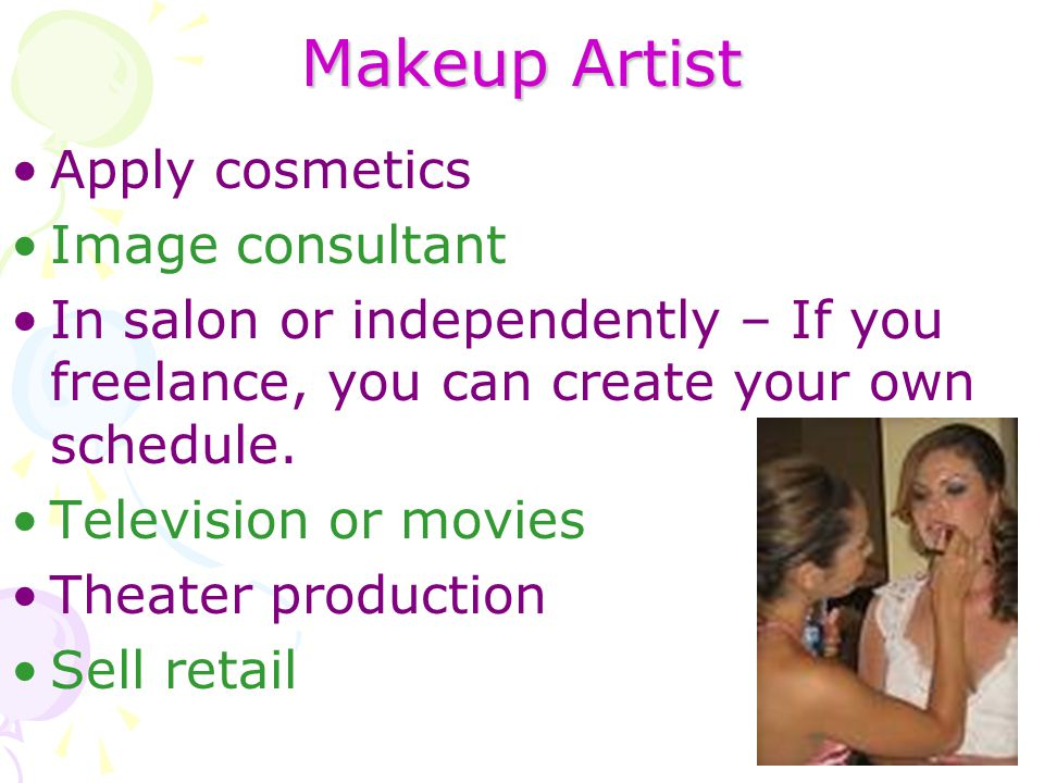 Makeup Artist Apply cosmetics Image consultant