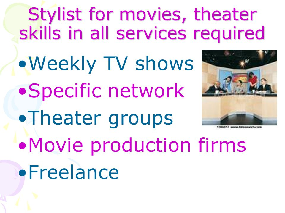 Stylist for movies, theater skills in all services required