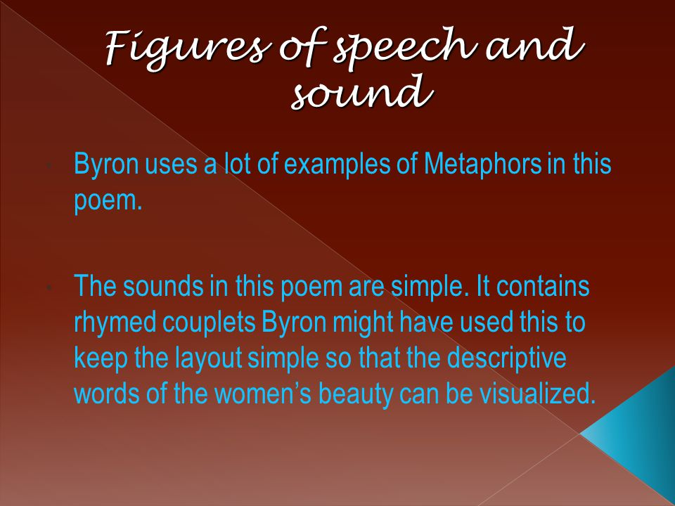 Figures of speech and sound