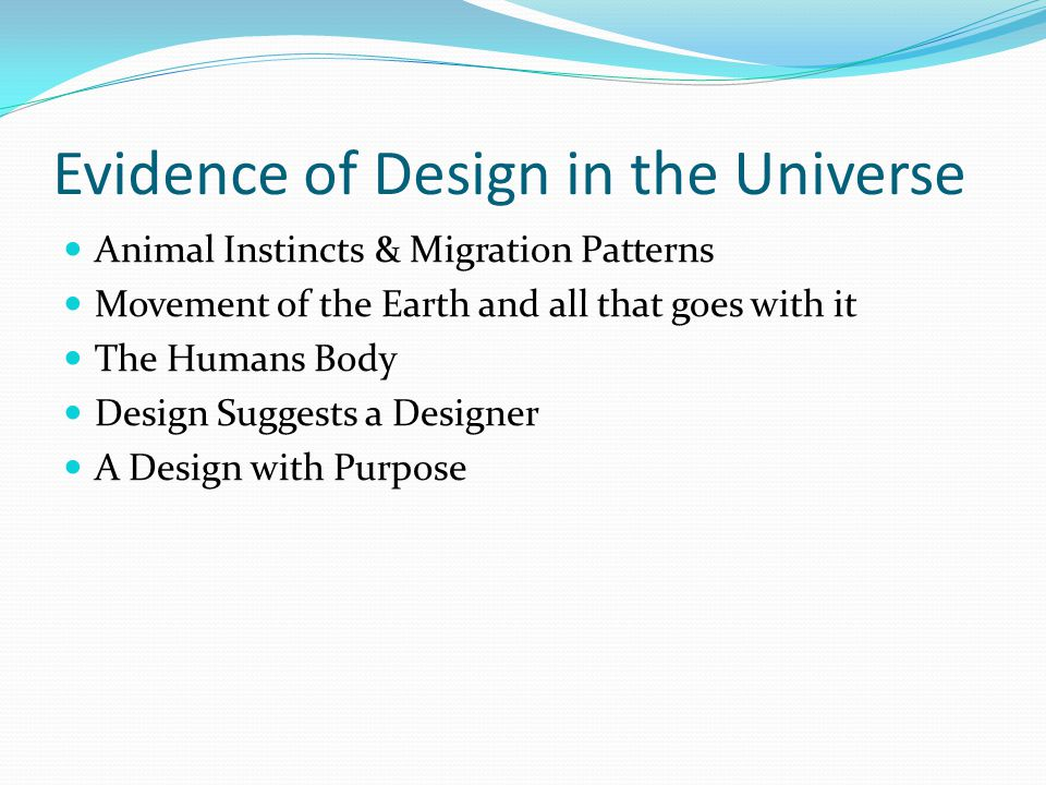 Evidence of Design in the Universe