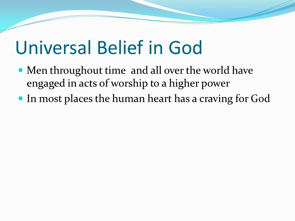 Universal Belief in God