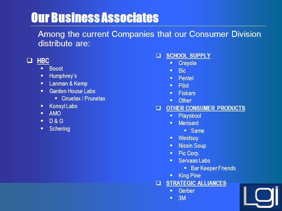 Our Business Associates
