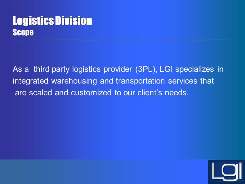Logistics Division Scope