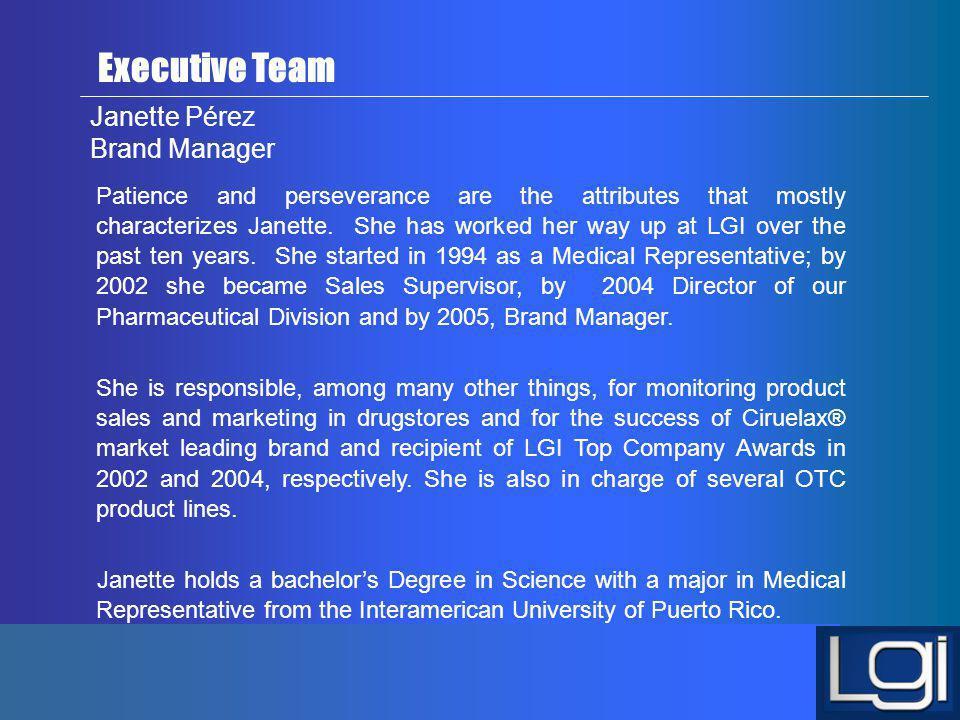 Janette Pérez Brand Manager