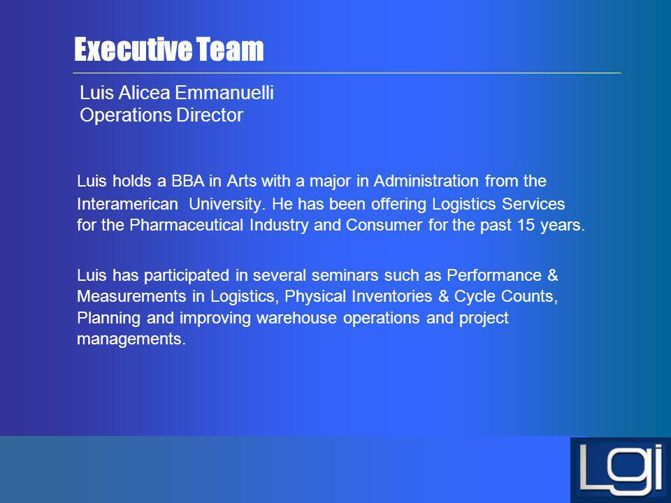 Luis Alicea Emmanuelli Operations Director