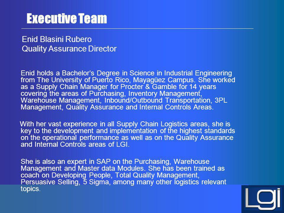 Enid Blasini Rubero Quality Assurance Director