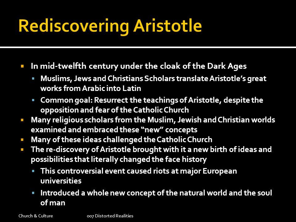 Rediscovering Aristotle