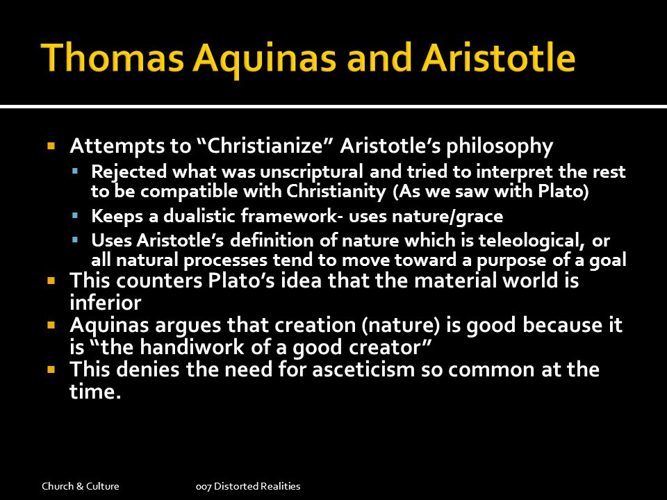 Thomas Aquinas and Aristotle