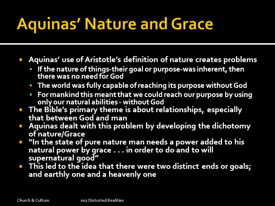 Aquinas' Nature and Grace