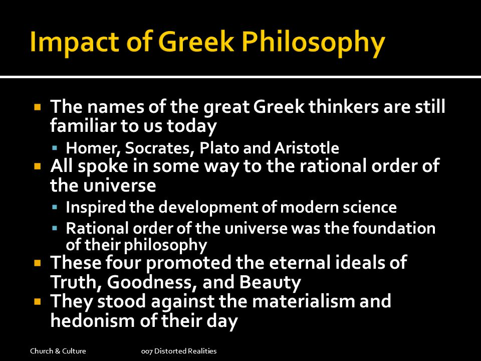 Impact of Greek Philosophy