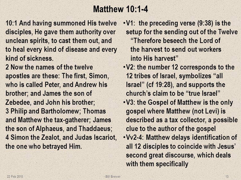 Matthew 10:1-4