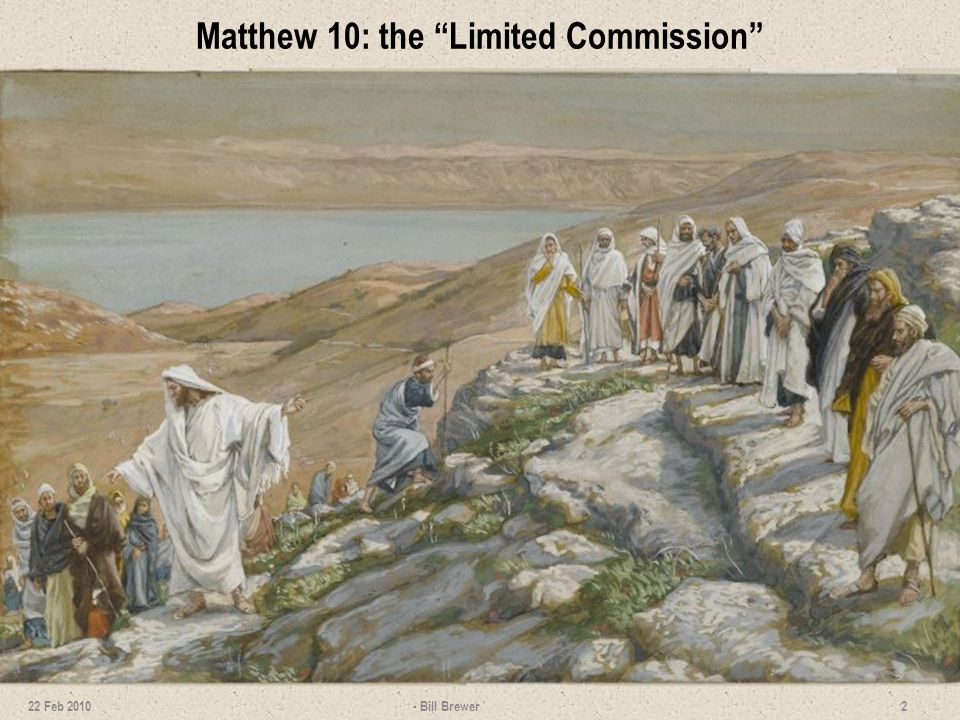 Matthew 10: the Limited Commission