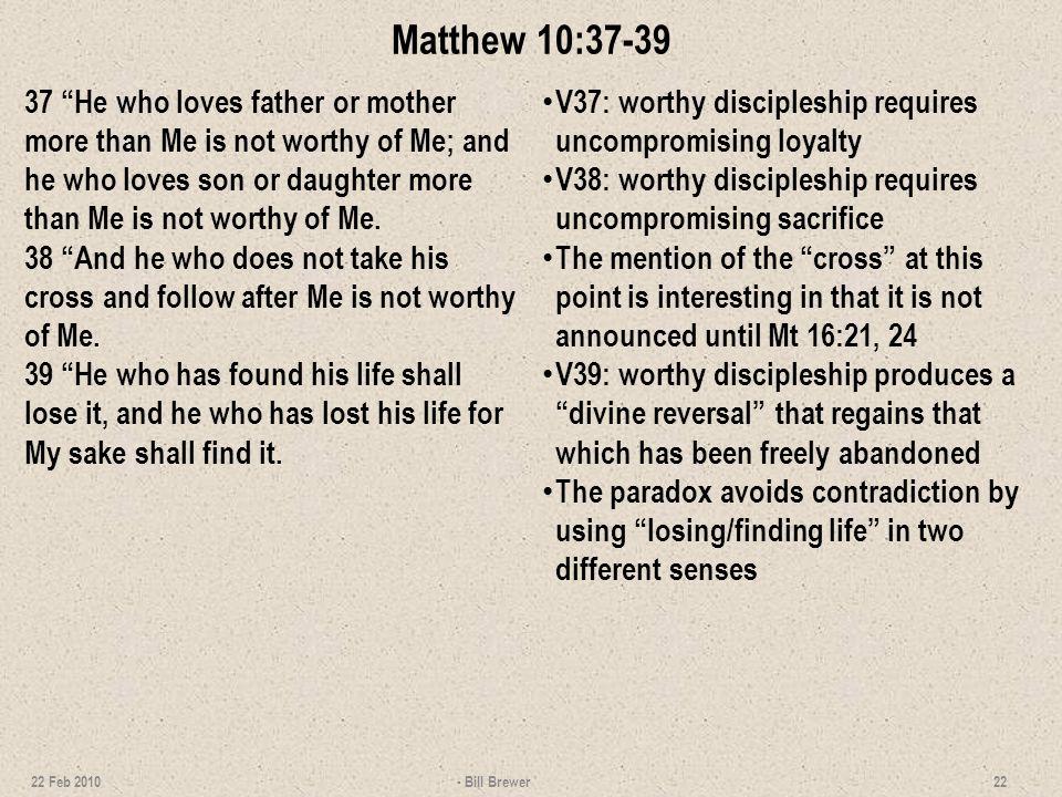 Matthew 10:37-39