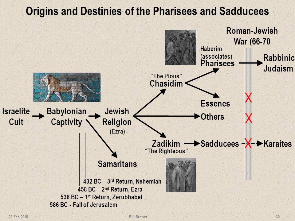 Origins and Destinies of the Pharisees and Sadducees
