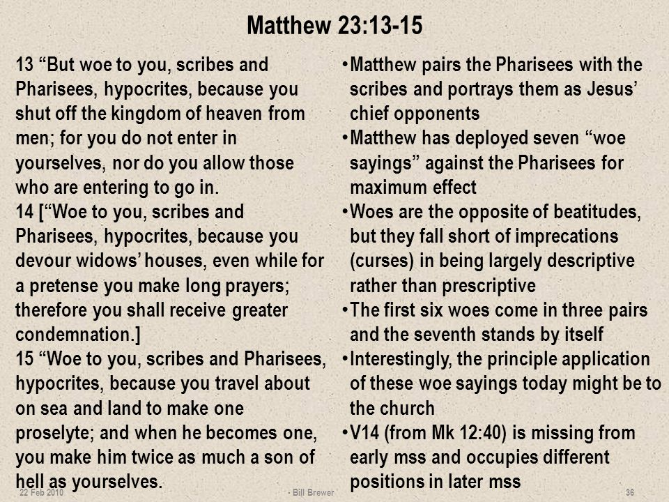 Matthew 23:13-15