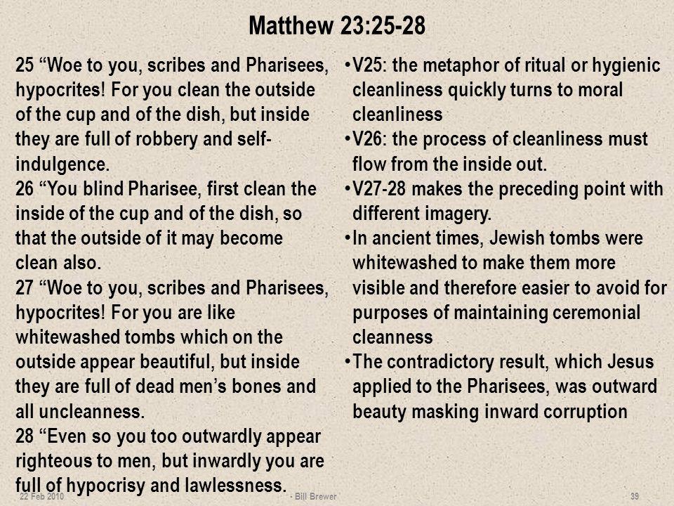 Matthew 23:25-28