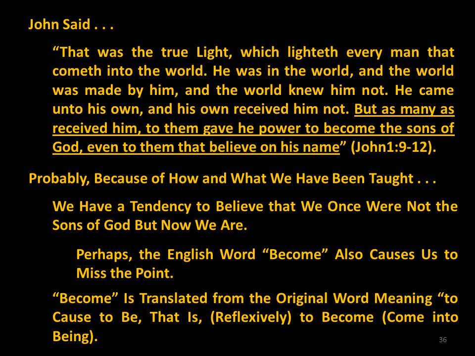 John Said . . .