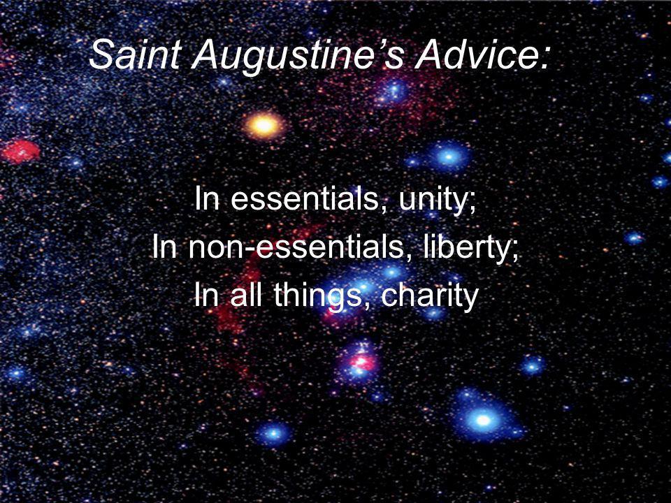 Saint Augustine's Advice: