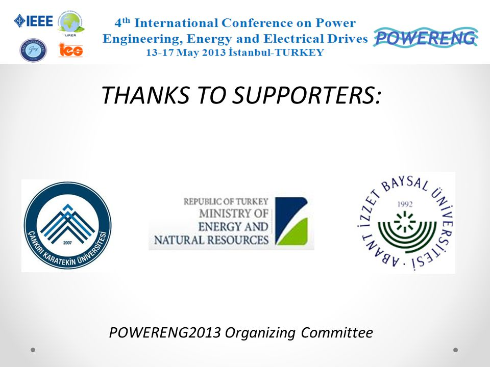 POWERENG2013 Organizing Committee