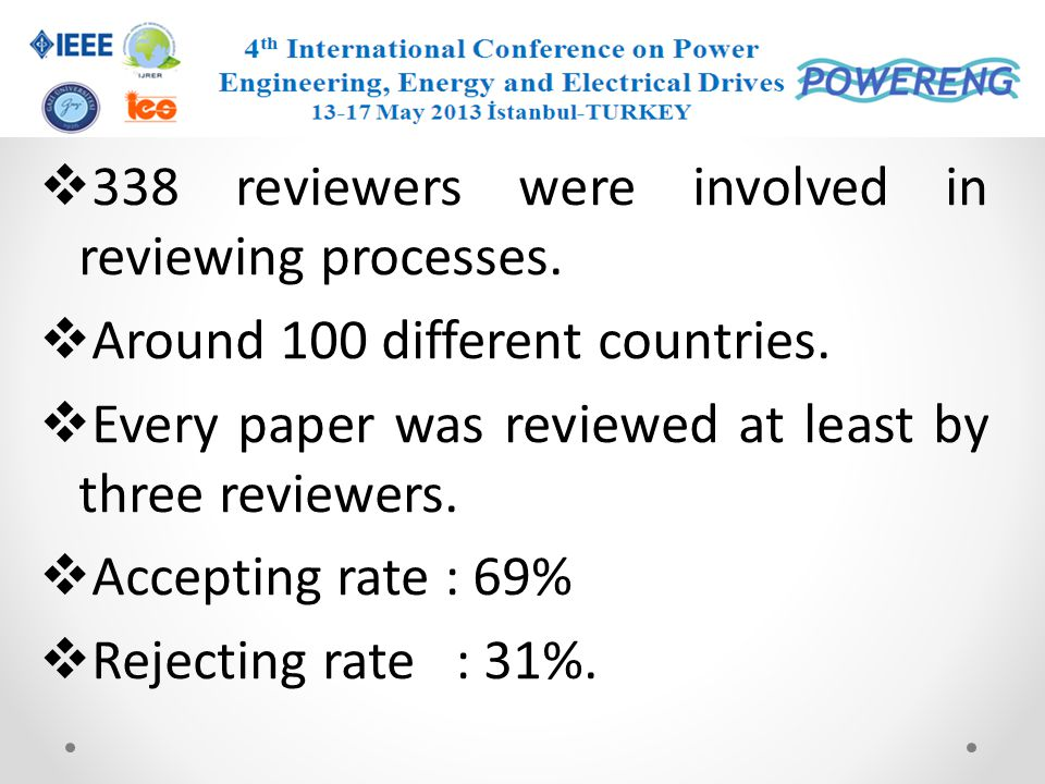 338 reviewers were involved in reviewing processes.