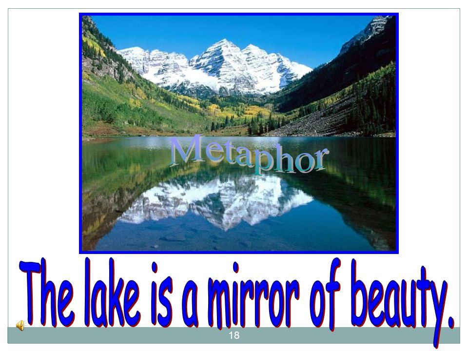 The lake is a mirror of beauty.