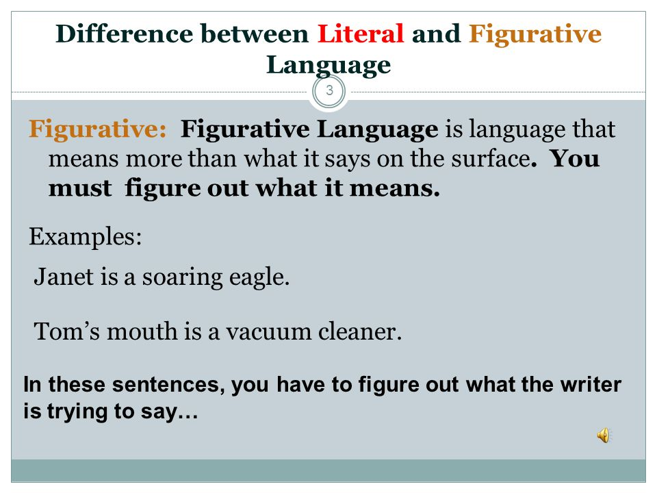 Difference between Literal and Figurative Language