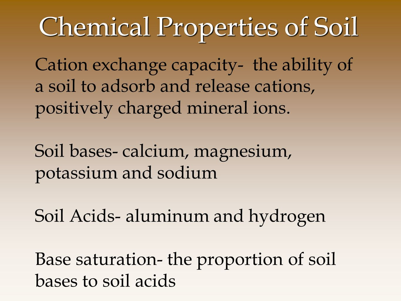 chemicals and properties