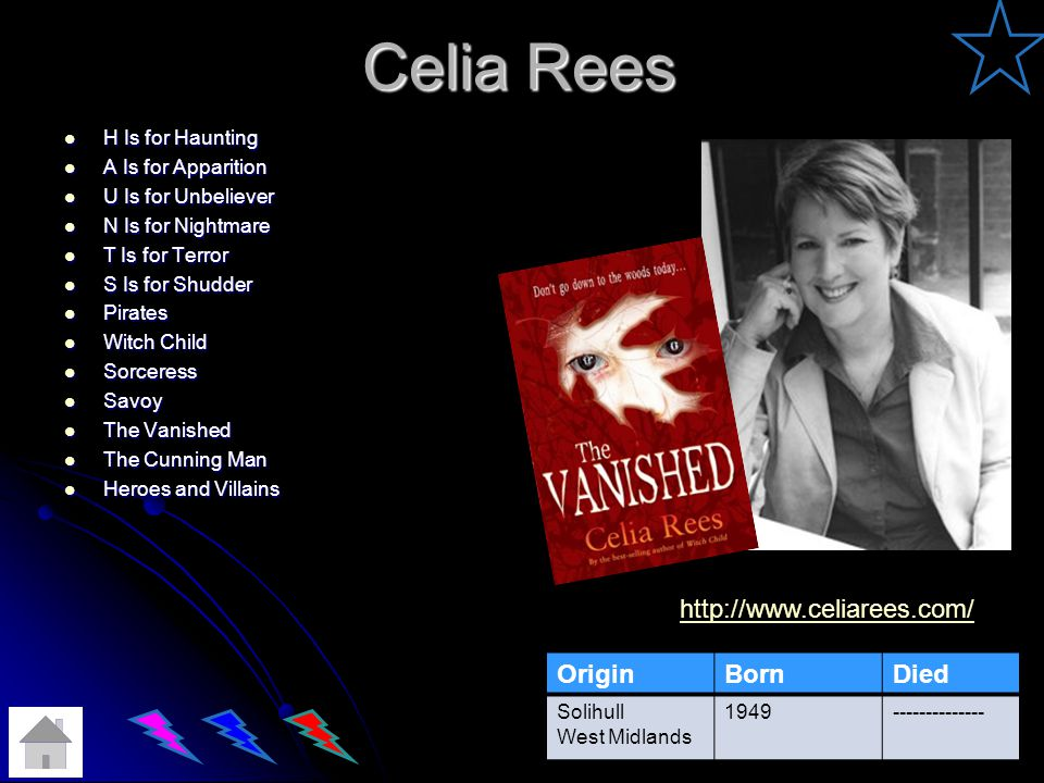 Celia Rees http://www.celiarees.com/ Origin Born Died