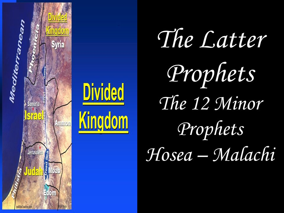 The Latter Prophets The 12 Minor Prophets Hosea – Malachi