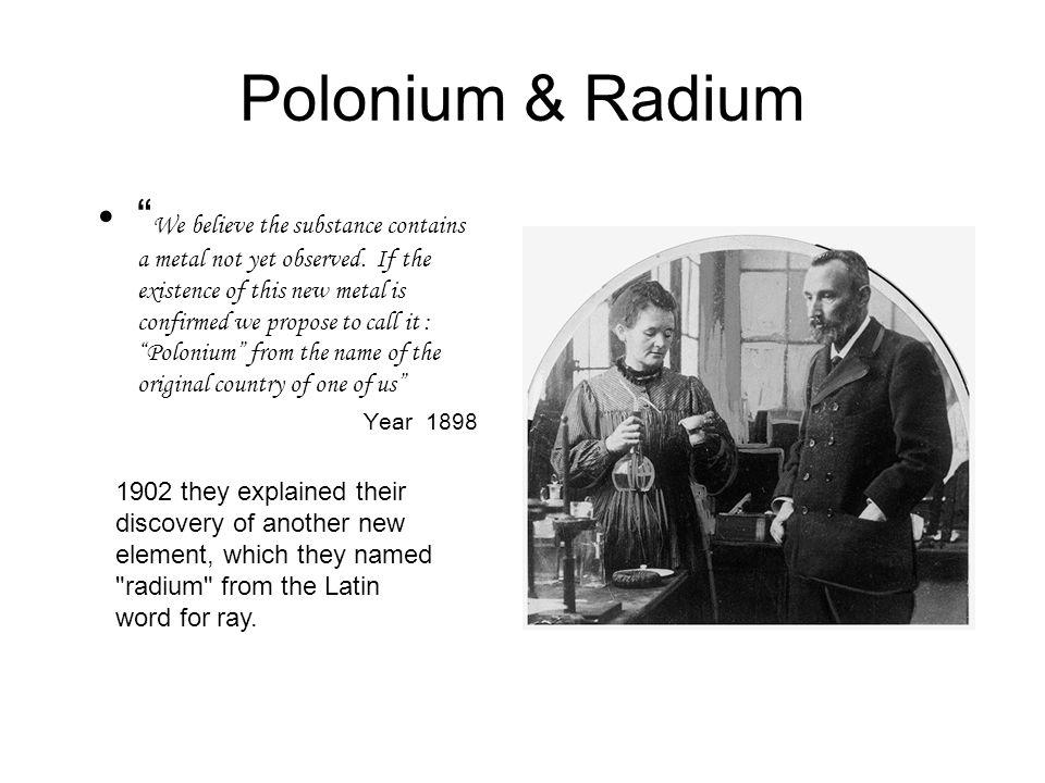 Polonium & Radium
