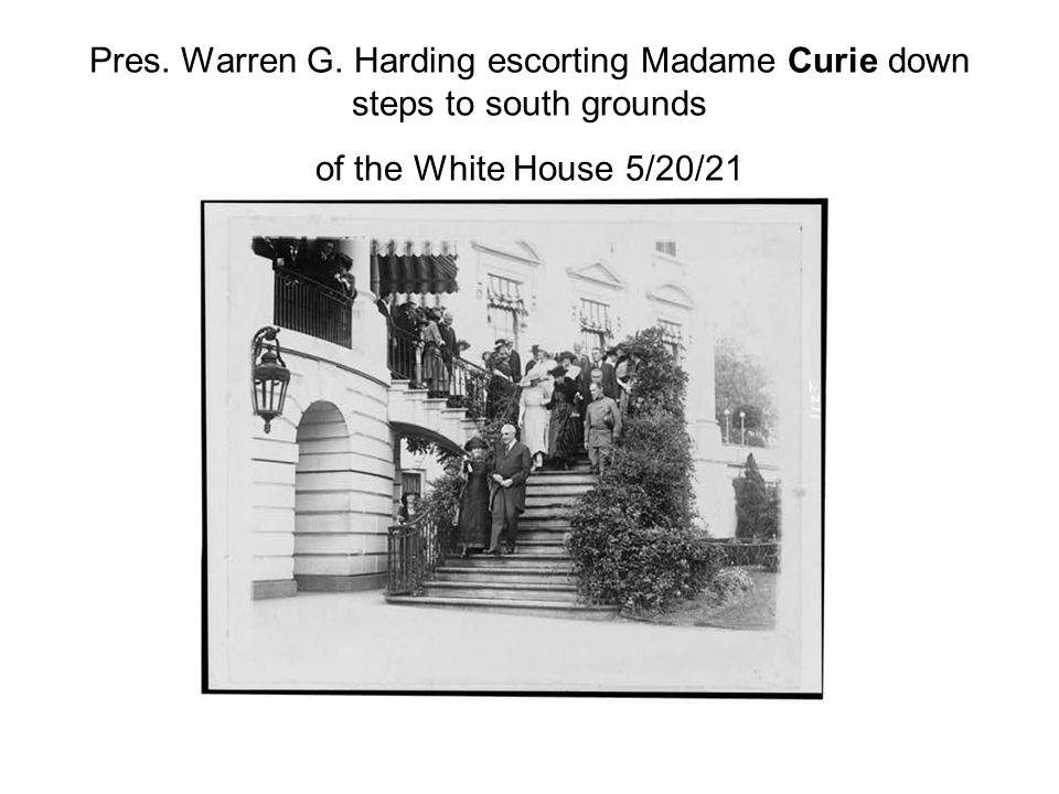 Pres. Warren G.