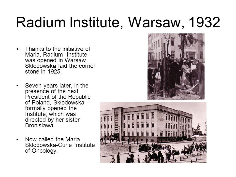 Radium Institute, Warsaw, 1932