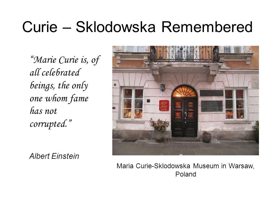Curie – Sklodowska Remembered