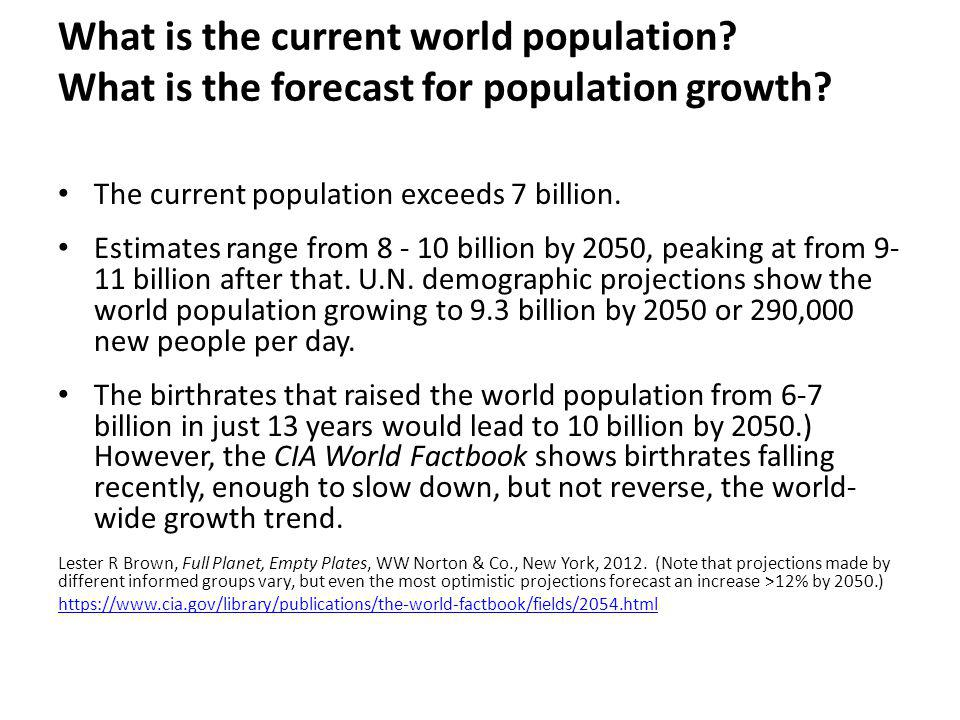 What is the current world population