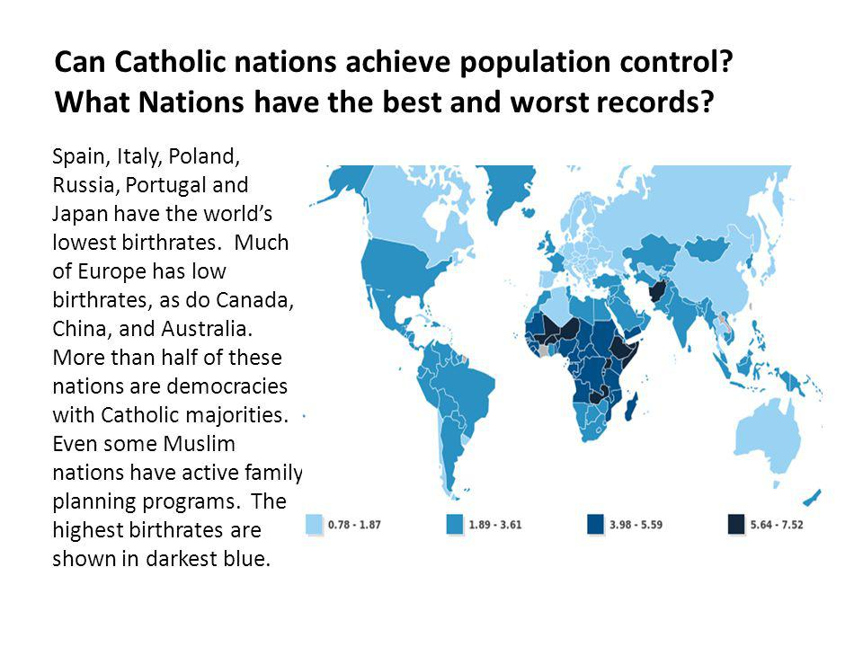 Can Catholic nations achieve population control