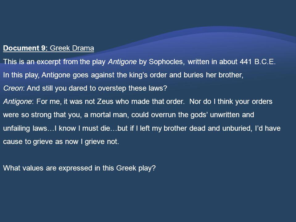 Document 9: Greek Drama