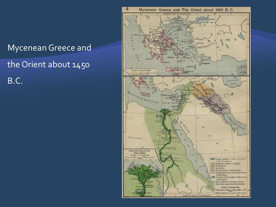 Mycenean Greece and the Orient about 1450 B.C.