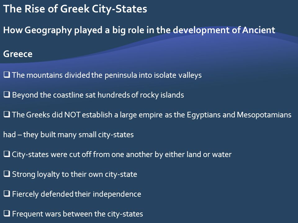 development of the greek city state History of athens including  the region has passed through stages of social development common in  athens is again perceived as the leading greek city-state.