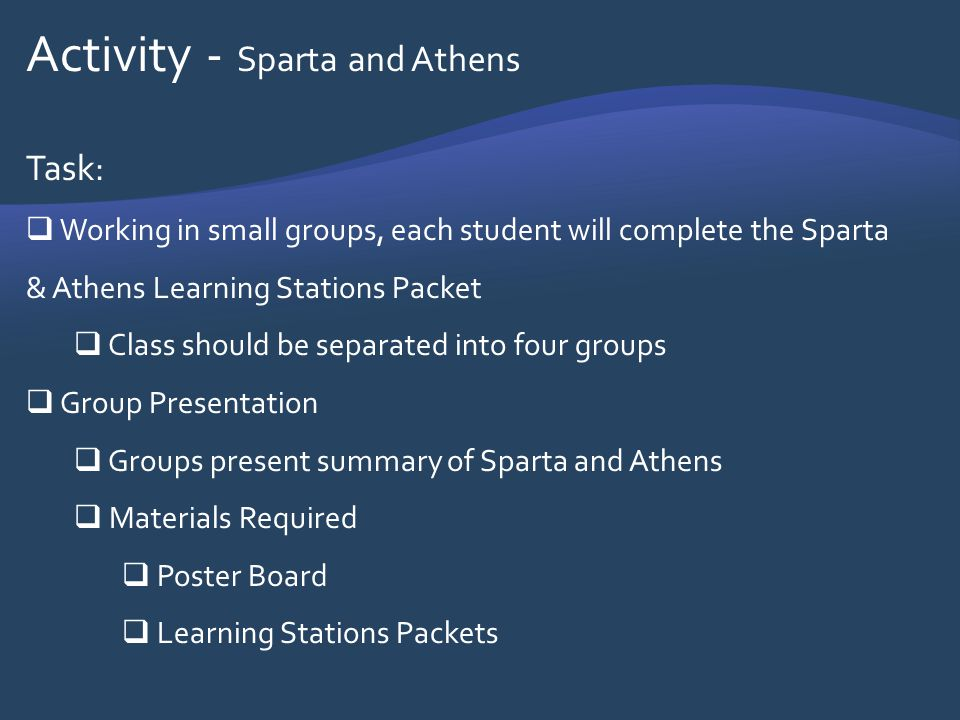 Activity - Sparta and Athens